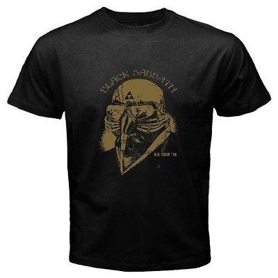 New BLACK SABBATH US Tour 78 Used by Tony Stark Mens Black T Shirt