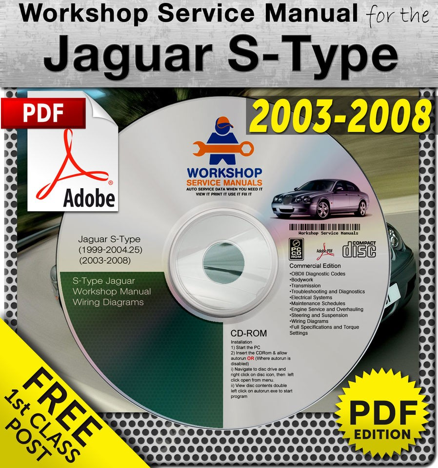 Jaguar S Type 2001 2008 Workshop Service Manual 3500+Pages ... on
