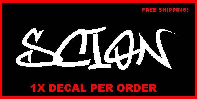 SCION Graffiti Decal Vinyl Sticker Race Toyota TRD XB TC IQ XD