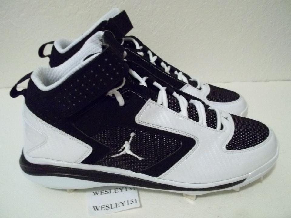 NEW Nike Jordan Baseball Cleats Various mens sizes 488433 001 White