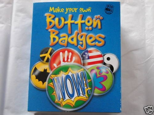 MAKE YOUR OWN BUTTON BADGE KIDS KRAFT KIT BOOK FUN NEW