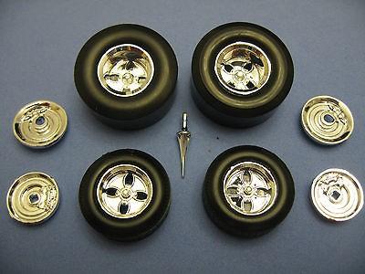Hot Rod Wheels Conversion Resin Model Kit   1/25 Scale   Complete Set