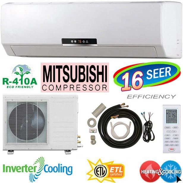 TON Ductless Air Conditioner, Mini Split Heat Pump, 36000 BTU
