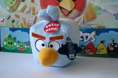 Angry Birds Space   Plush Ice Bird 5 with Sound