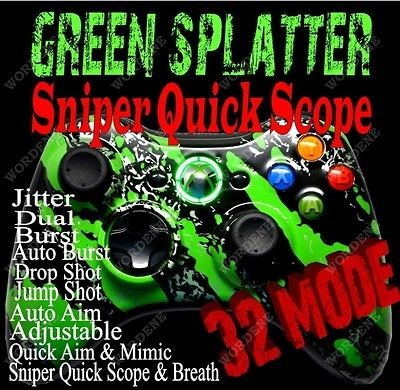 32 Mode RAPID FIRE Modded Xbox 360 Controller HALO 4 BLACK OPS 2