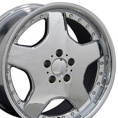 18 8/9 Chrome AMG Wheels Set of 4 Rims Fit Mercedes C E S Class SLK