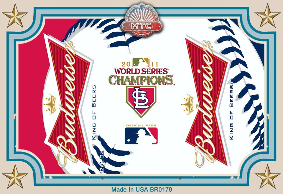 St Louis Cardinals World Series Champions Beer La Fridge Magnet