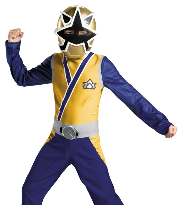 Kids Power Rangers Samurai Gold Ranger Halloween Costume