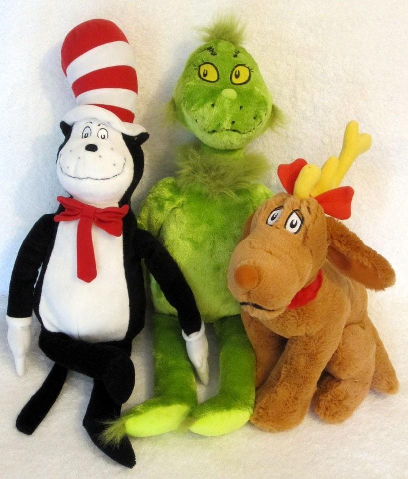 Kohls Book Kohls Dr Seuss Cat In The Hat Plush Grinch Max Lot