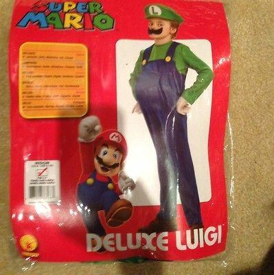 Super Mario Bros. Luigi Deluxe Costume. Worn Once