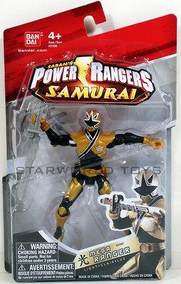 POWER RANGERS SAMURAI 4 MEGA RANGER LIGHT Figure 31507 GOLD MIGHTY