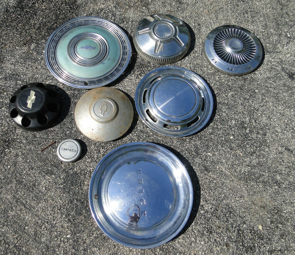 vintage Hubcaps Ford Buick Chevrolet Lot Chevy GMC cap wheel covers