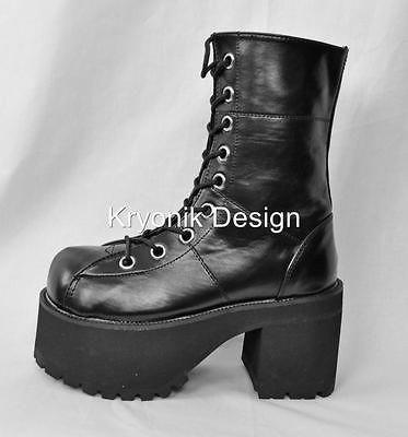 9945f9c736c1 Demonia Ranger 301 goth gothic punk black platform ankle boots womens