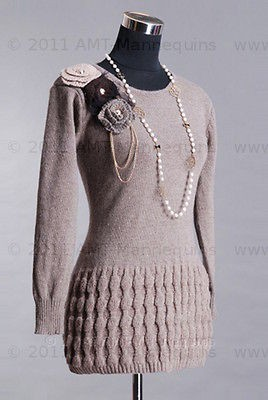 Newly listed Female mannequin torso pinnable adjustable. black fibric