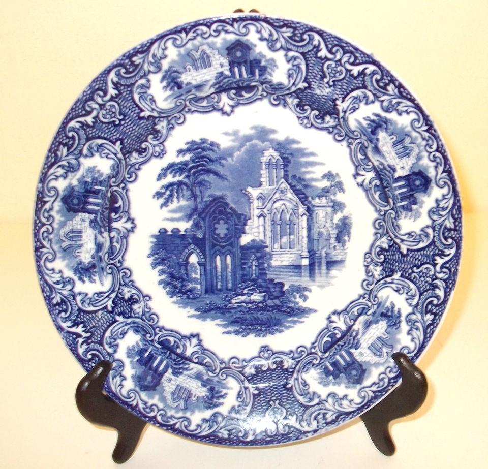 Petrus Regout Abbey blue plate Maastricht Holland