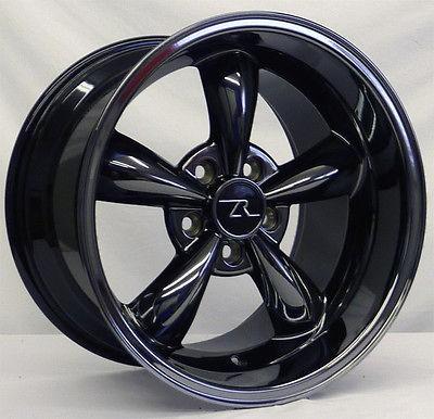 deep dish mustang black chrome bullitt wheels 17x9 10 5