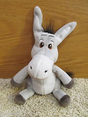 SHREK 7 CUDDLY BEAN STUFFED PLUSH DONKEY SOFT TOY VERY CUTE *LN