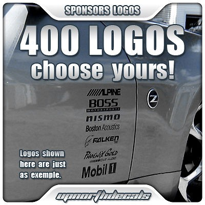 16 sponsor logo decal car vinyl graphics stickers civic from