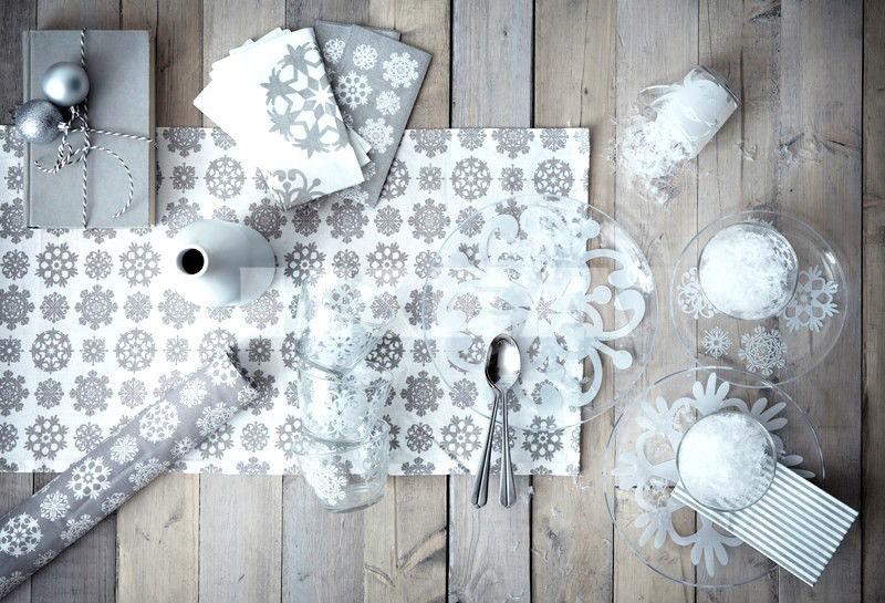 IKEA table runner 55x16 SNOWFLAKE Christmas white or gray wall hanger