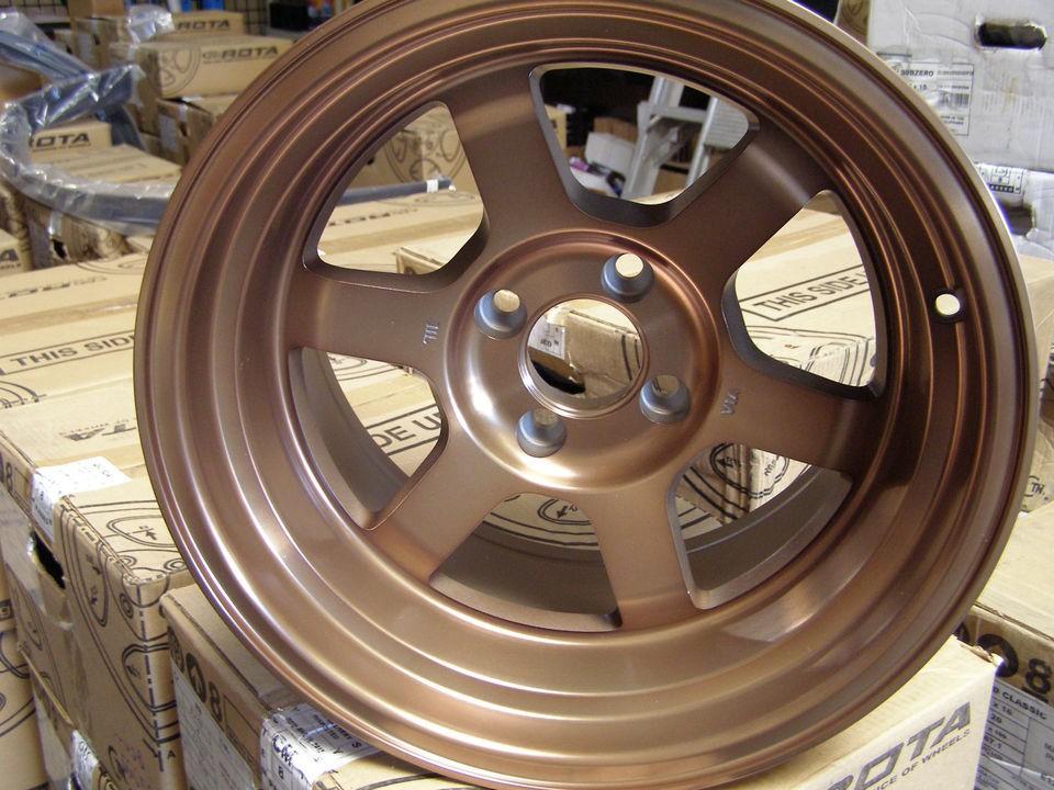ROTA Wheels Grid 15x9 (4x100  15mm, 67 Hub, Full Royal Sport Bronze