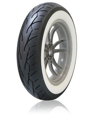 VRM 302 Twin WHITE WALL Touring Motorcycle Tire 130/50 B23 TL Front