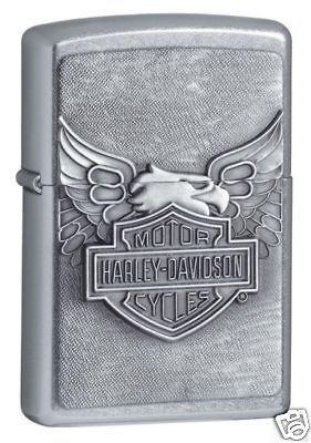 Zippo Harley Davidson Eagle Lighter,Emblem, Street Chrome, Low