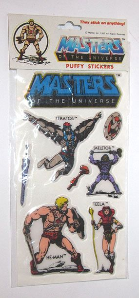 1985 He Man Masters Of the Universe Puffy Stickers Packet (#3)