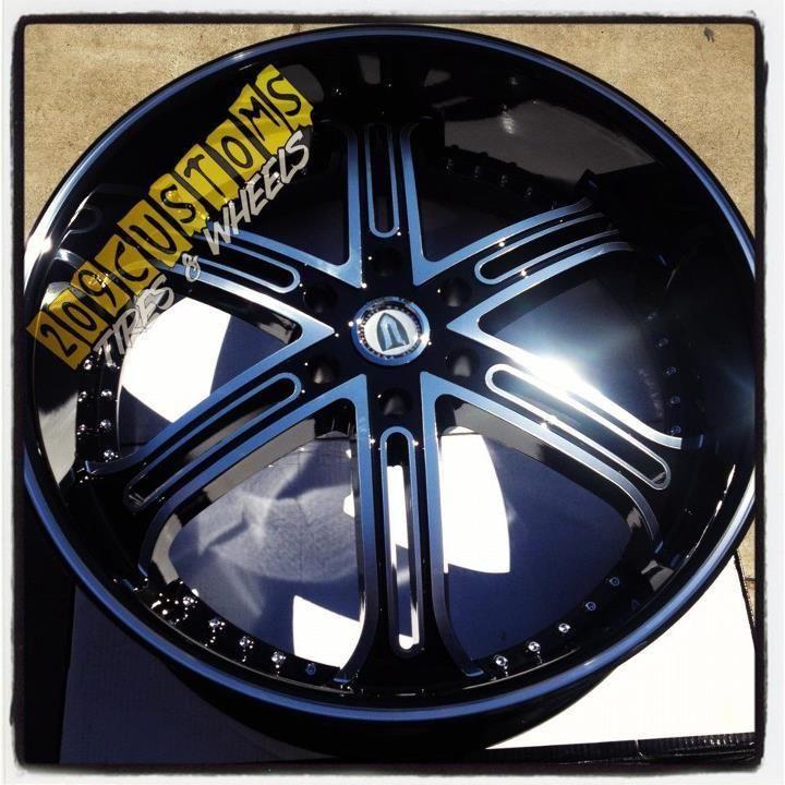 Rims Wheels Tires VW226 Black 6x139 7 Avalanche 2005 2006 2007