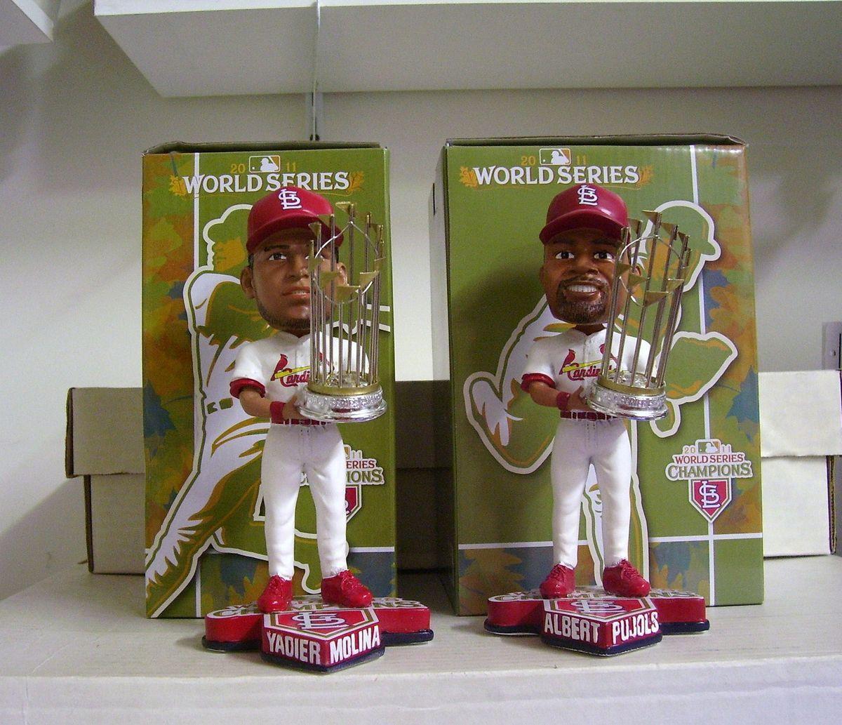 Yadier Molina Albert Pujols Cardinals World Series Bobble Bobbleheads