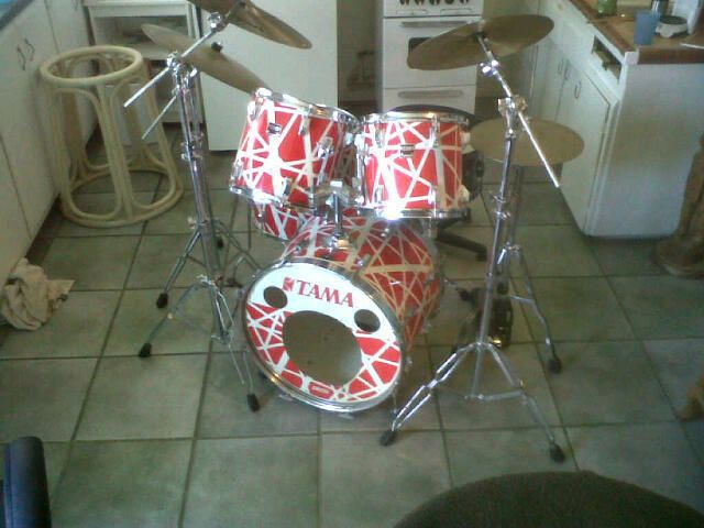 1984 Tama Swingstar Alex Van Halen Model 5 Piece Drum Kit