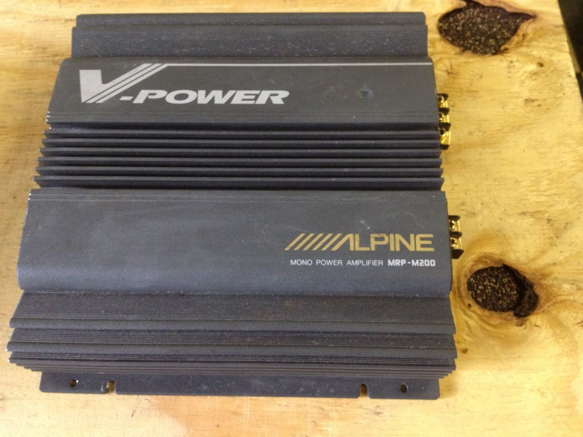 Alpine Mrp M200 Car Amplifier F250 4 Channel Amp Wiring Diagram