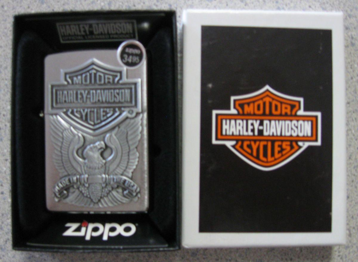Brand New Genuine Zippo Harley Davidson Made in The USA Eagle Lighter
