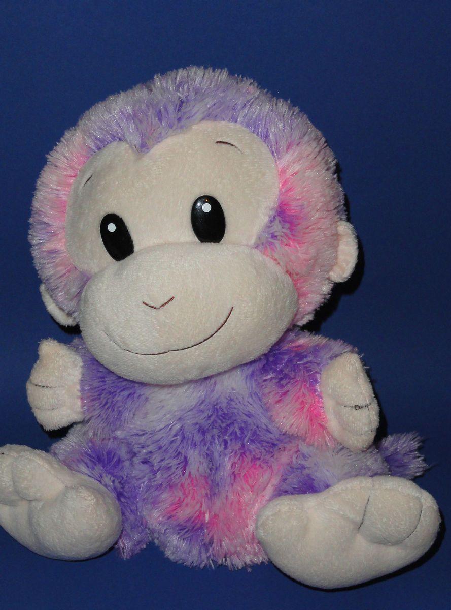 Animal Alley Pink Purple Lavender Stuffed Plush Monkey Soft Toy