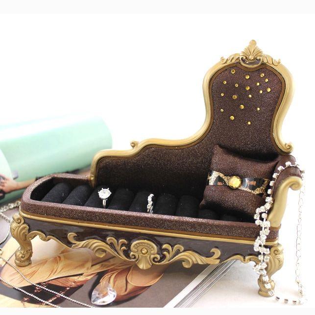 Lounge Chair Ring Holder Brown Metallic Leopard Print Animal