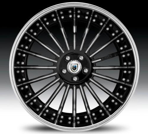 19 asanti AFC402 Black Chrome Wheels Rims 3 Piece