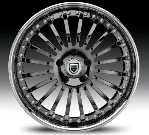 22 asanti AF122 Black Chrome Wheels Rims 2 Piece Tone