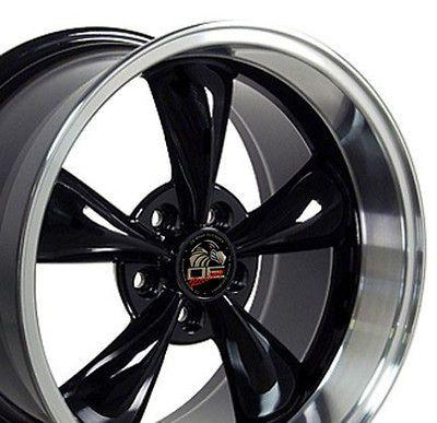 17 9/10.5 Black Bullitt Wheels Rims Fit Mustang® 94 04