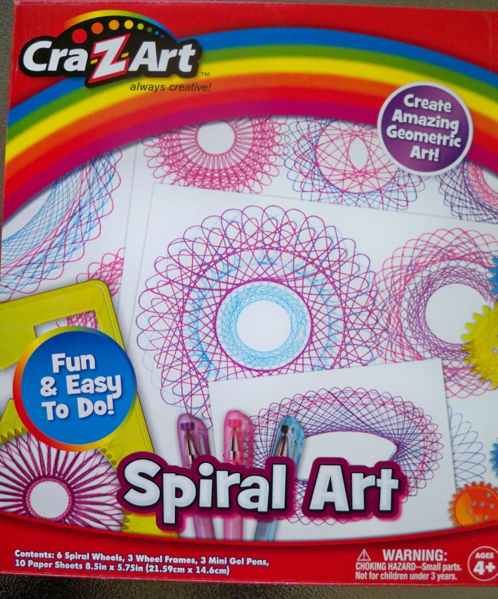 Kids Craft Kit Spiral Art Graphics Spin Art Geometric Ages 4 and Up