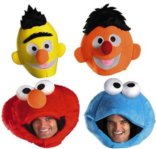 Sesame Street Bert Ernie Elmo Cookie Adult Costume Set