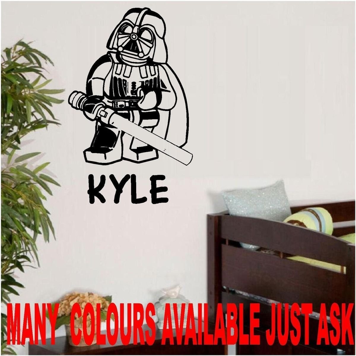 Large Lego Star Wars Darth Vader Wall Art Bedroom Living Room Sticker