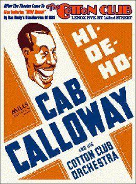 Big Band Jazz Cab Calloway at Cotton Club Harlem Concert Poster 1931