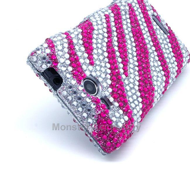 LG Lucid 4G VS840 Case For Verizon   Pink Zebra Bling Hard Cover