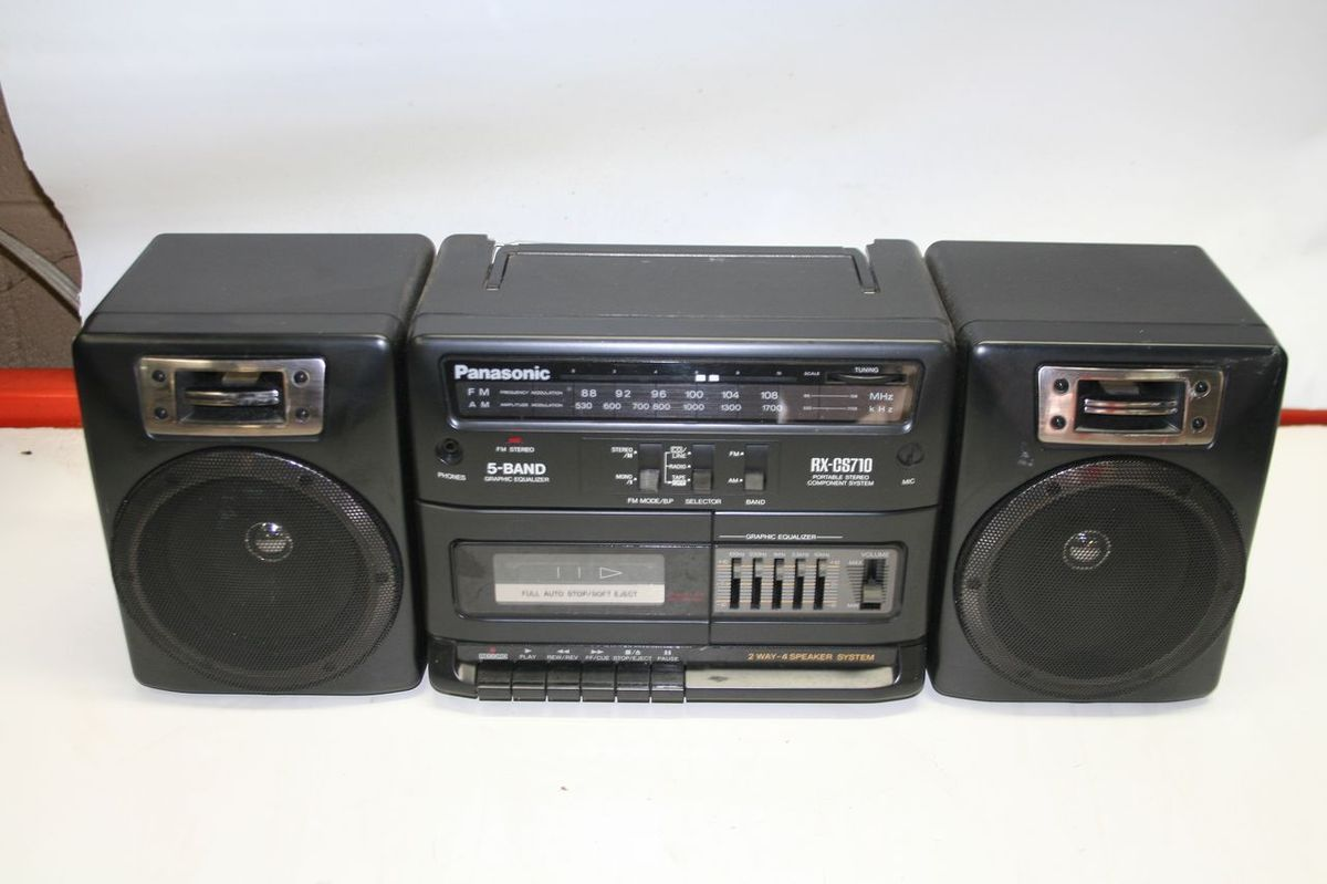 vintage panasonic model rx cs710 radio cassette player boombox. Black Bedroom Furniture Sets. Home Design Ideas