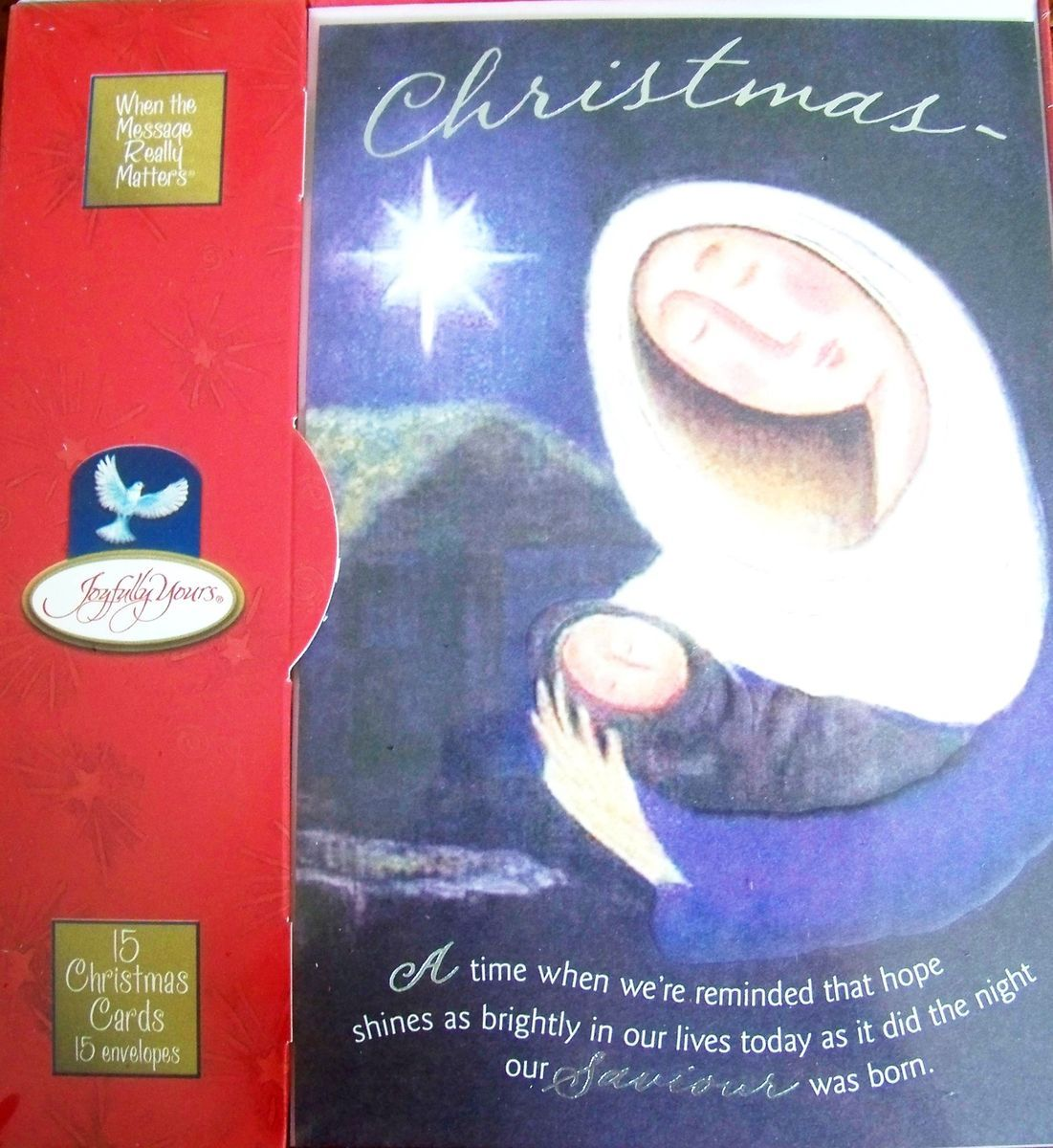 Inspirational Christian Christmas Greeting Cards Boxed Set 15 Cards