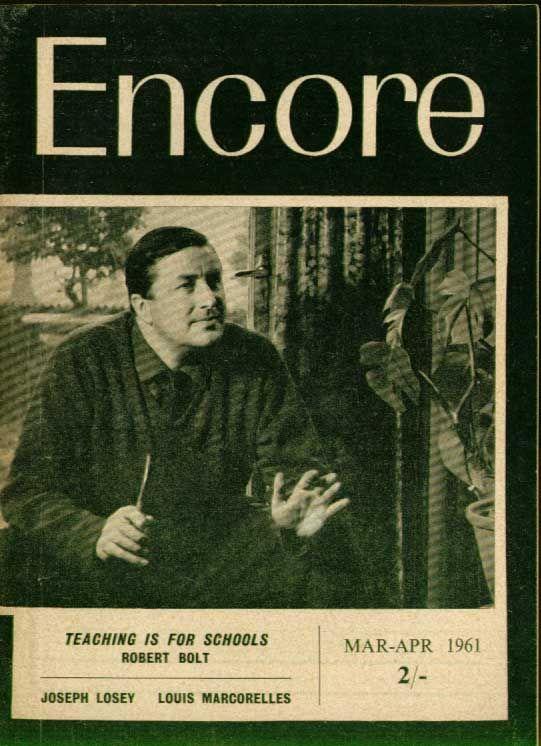 Encore Robert Bolt Interview Joseph Losey on Brecht 3 1961