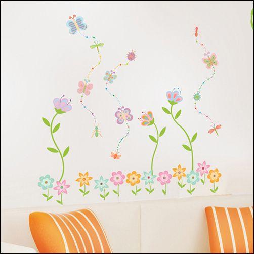 Butterfly Flower Garden Removable Art Decor Wall Sticker Decal
