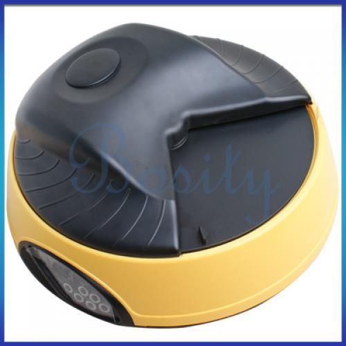 Meals Tray Timed Automatic Pet Dog Cat Feeder w Message Recorder LCD