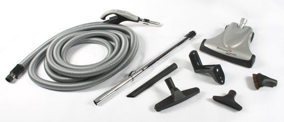 Deluxe Air Driven Central Vacuum Kit 30 Hose w Switch