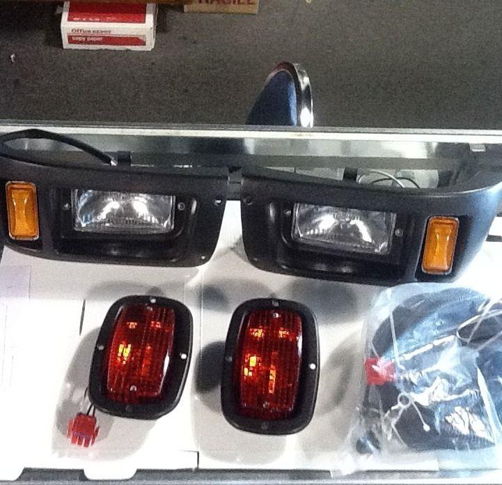 Club Car Golf Cart Economy Bezel Light Kit Head Tail Lights Wire Harn