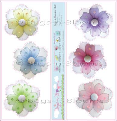 Girl Room Decor Removable Stickers Flowers Daisy Daisies Vinyl